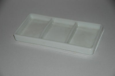 Vintage Milk Glass Dental /Surgical tray #17   The American Cabinet Co