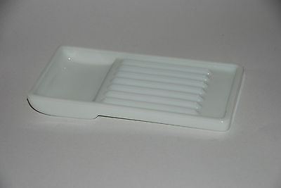 Vintage Milk Glass Dental /Surgical tray  The American Cabinet Co