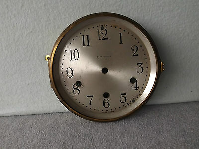 OLD SETH THOMAS MANTLE SHELF WESTMINSTER CLOCK DIAL /  BEZEL CLOCK PARTS