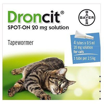 Droncit Spot On Wormer for Cats (4 Pack)