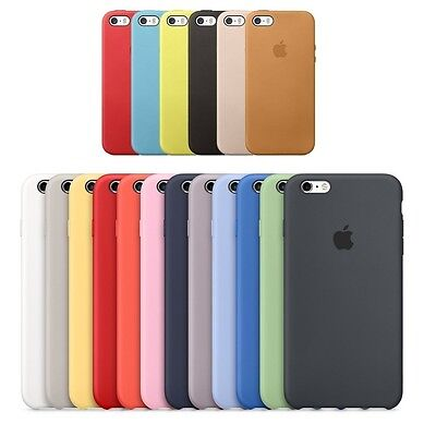 CUSTODIA ORIGINALE PELLE SILICONE APPLE iPhone 5 5S SE 6 6S 7 CASE BACK COVER