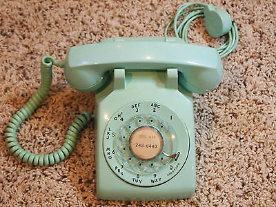 Vintage G3 Western Electric Bell System Mint Green (Turquoise) Rotary Telephone