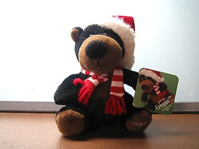 Sears Collectible Christmas 2010 Charity Bear named CRISPIN with tag - NEW