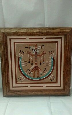 Authentic navajo sandpainting by Lester Johnson