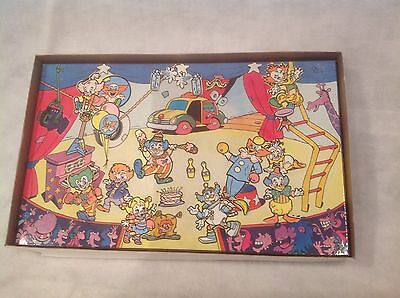Vintage 1988 Bozo the Clown Colorforms Play Set VG+ in G+ box Poss Complete game