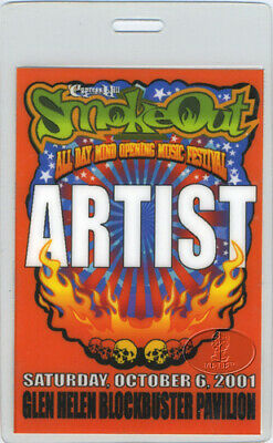 Busta Rhymes Cypress Hill 2001 Smoke Out Laminated Backstage Pass Fear Factory