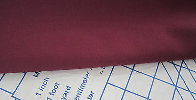 BURGUNDY   WEAVER'S CLOTH Perfect fabric for NEEDLEPUNCH 55%Polyester-45%Cotton