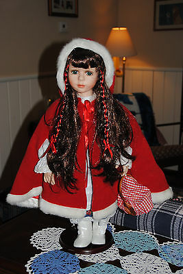 "Beautiful 18"" Red Riding Hood Doll Seymour Mann Collection"
