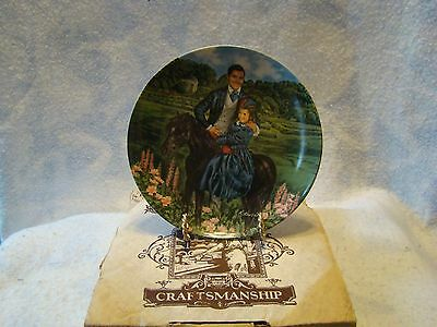 "Knowles Gone With The Wind ""Bonnie & Rhett "" Collectors Plate Box COA 1985"