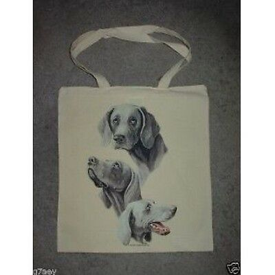 3 Weimaraner Dogs Design Printed Tote ECO Shopping Bag