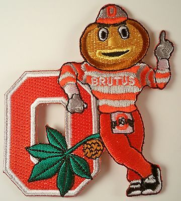 "OSU Ohio State Buckeyes Vintage RARE Embroidered Iron On Patch BRUTUS  3"" x 3"""
