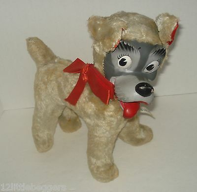 Vintage WDP Lady & the TRAMP Dog Plush Stuffed Animal Gund Rubber Face Rushton