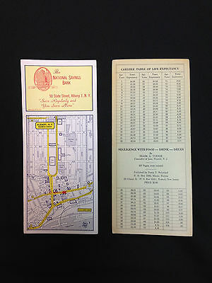 """Vintage 9"""" by 4"""" die-cut advertising blotters; Albany, NY business center and..."""