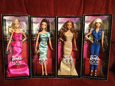 BARBIE LOOK COLLECTION - RED CARPET  **4 DOLLS NRFB-MINT