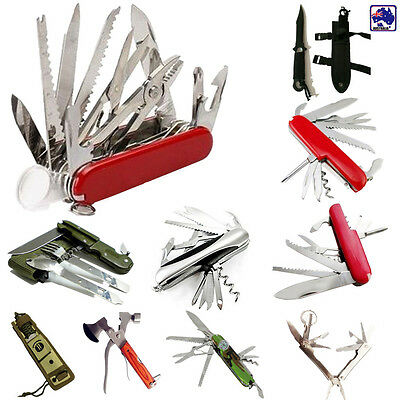 Multi Function Camping Hiking Pocket Knife Plier Stainless Dagger Knives OKNIF