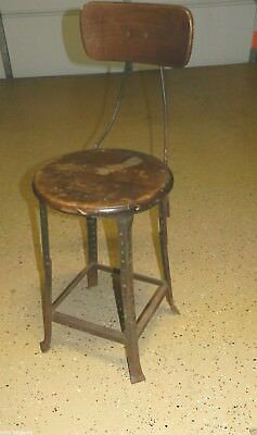 9050 Vintage Industrial HALLOWELL Drafting / Architect  Chair / steampunk