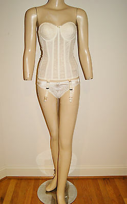 Vintage 50's Corset Bustier Boning, Garter Clips by Helena of Hollywood 32 A