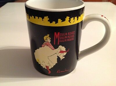 Certified Int'l Lautrec Moulin Rouge FLAUTREE Black Yellow Red w Dancer, Cup Mug
