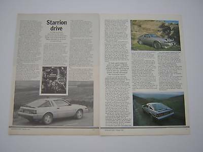 Mitsubishi Colt Starion Road Test from 1985 - Original