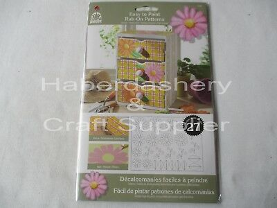 Rub On Patterns To Paint On*daisies*5205