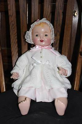 "22"" Baby Hendren doll, Averill doll, Composition doll free domestic shipping"