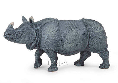 FREE SHIPPING | Papo 50147 Indian Rhinoceros Model Animal Toy- New in Package