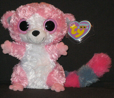 TY BUBBLEGUM the LEMUR BOOS - BEANIE BOO'S - MINT with MINT TAGS - 6 INCH