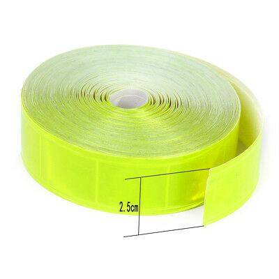 "10M Scotchlite Gloss Sew on Reflective Tape 1"" Wide Safety Fluorescent yellow"