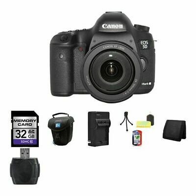 Canon EOS 5D Mark III DSLR Camera w/24-105mm Lens 32GB Package