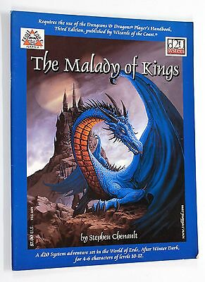 Troll Lord Games TLG-1601 THE MALADY OF KINGS RPG D&D 3.0 Adventure
