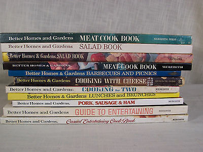 Vintage Better Homes and Gardens Cookbooks 1950s thru 1970s Lot of 12