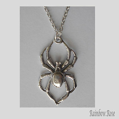 Chain Necklace #107 Pewter SPIDER (27cm x 16mm)