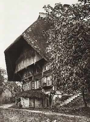 1924 Vintage GERMANY Gutach Black Forest House Window Walkway Photo By HIELSCHER