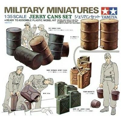 Tamiya 35026 1/35 Scale Military Miniatures Model Kit Drum & Jerry Cans Set