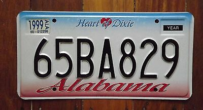 ALABAMA USA Number License Licence Plate Tag 65BA829