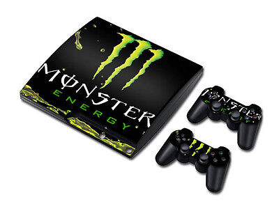#558 Skin Sticker Cover Decal For PS3 PlayStation 3 Slim + 2 Controllers Vinyl