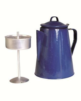 Enamel coated steel coffee percolator , retro vintage style complete with insert