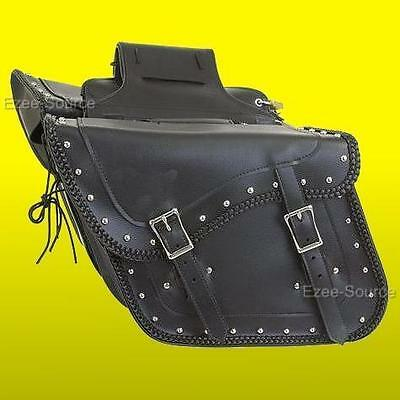 HONDA SHADOW VT VLX 600 700 HARD WATERPROOF BRAIDED SADDLEBAGS ZIP-OFF 2PC -HD22