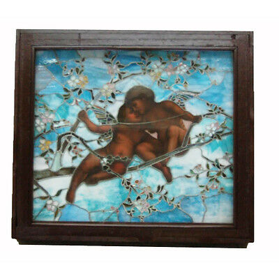 Tiffany Favrile Glass Angel Window, Stained Glass #7715
