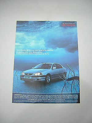 Toyota Avensis Advert from 2001 - Original