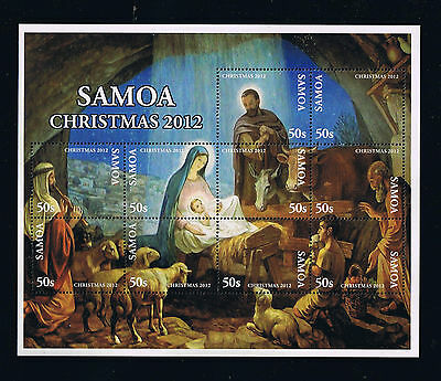 2012 Samoa Christmas Stamp Sheet