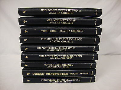 Agatha Christie Mystery Collection Bantam Books Leatherette Lot Of 9