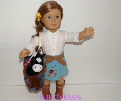 Horse w/Purse Doll Clothes Accessory Made For 18 inch American Girl Doll Saige