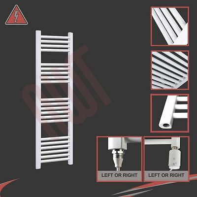 300mm(w) x 1200mm(h) Electric Straight White Heated Towel Rail Radiator 300W