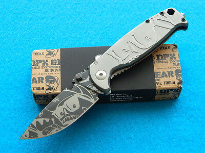 Limited Edition DPx HEST Mr. DP Folding Knife! Titanium Handles! Only 35 Made!!!