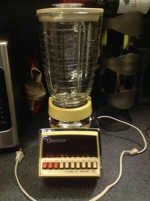 Osterizer Galaxie Cycle Blend  10 Speed Blender Almond & Chrome  Glass Top GUC