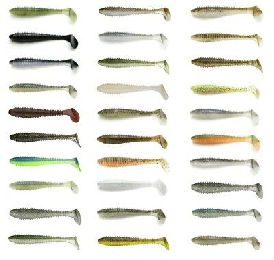 "Keitech Fat Swing Impact Paddle Tail Swimbait 4.8"" (12.2 Cm) 5 Pack Keitech Lure"