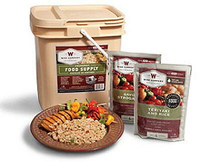 WISE 56-SERVING LONG TERM FREEZE DRIED EMERGENCY STORAGE FOOD SUPPLY MEALS
