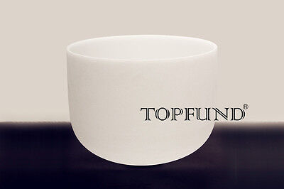 Frosted E Solar Plexus Chakra Quartz Crystal Singing Bowl 8""