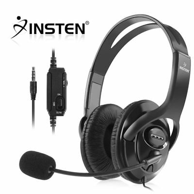 INSTEN Wired Gaming Headset Headphones w/ Microphone for Sony PS4 PlayStation 4